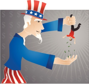 Collection time for Uncle Sam!